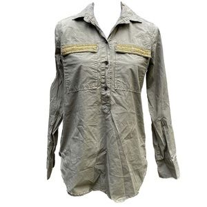 J Crew military inspired top size 0